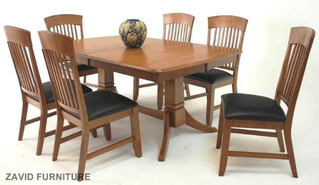Meja-Makan-Cikarang-6-Kursi-Jati Meja Makan Cikarang 6 Kursi Jati