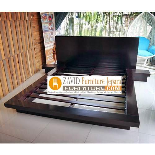 tempat tidur kayu jati minimalis - Tempat Tidur Jakarta Minimalis Jati Solid Modern