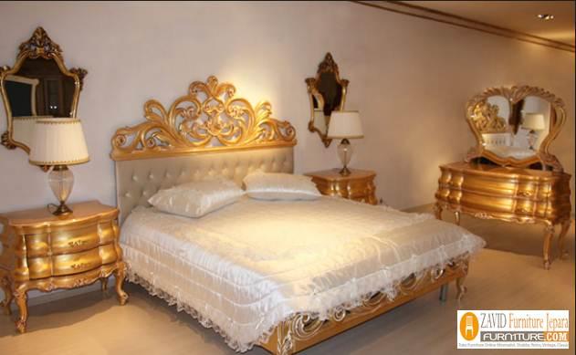 Set-Kamar-Tidur-Mewah-Turki-Ukiran-Emas Set Kamar Tidur Mewah Turki Ukiran Emas