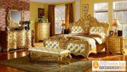 Set Kamar Tidur Mewah Ukir Gold Eropa