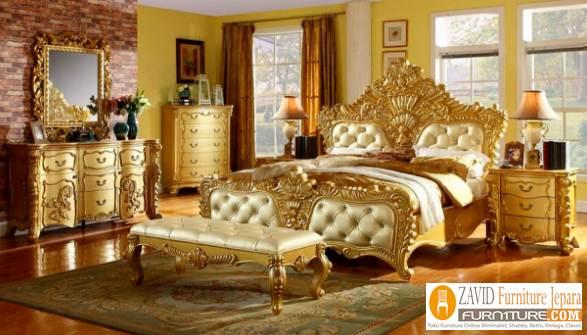 Set-Kamar-Tidur-Mewah-Ukir-Gold-Eropa Set Kamar Tidur Mewah Ukir Gold Eropa