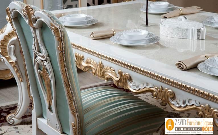 detail-meja-makan-klasik-modern-ukir Meja Kursi Makan Bekasi Duco Mewah