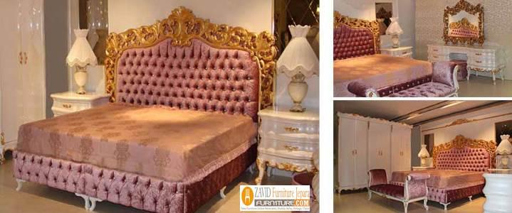 Tempat-Tidur-Mewah-Ukiran-Emas-Queen-Size Tempat Tidur Mewah Ukiran Emas Queen Size