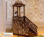Mimbar Masjid Bandung Kerangka Kubah Ukiran Jati