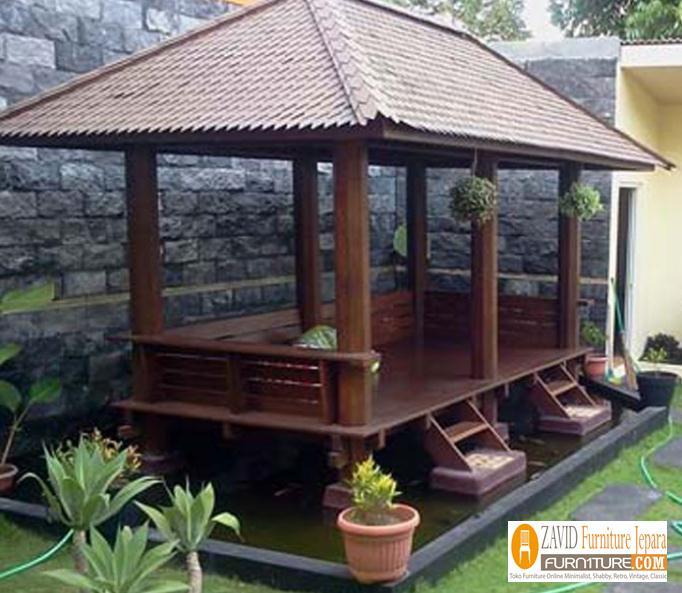 gazebo-di-atas-kolam-model-minimalis 79+ Gazebo Minimalis Sederhana Kayu Jati Harga Murah Desain Terbaru