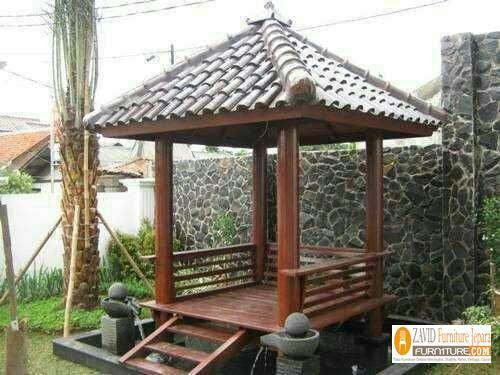 Model Teras Rumah Joglo Sederhana  79 gazebo minimalis sederhana kayu jati harga murah desain
