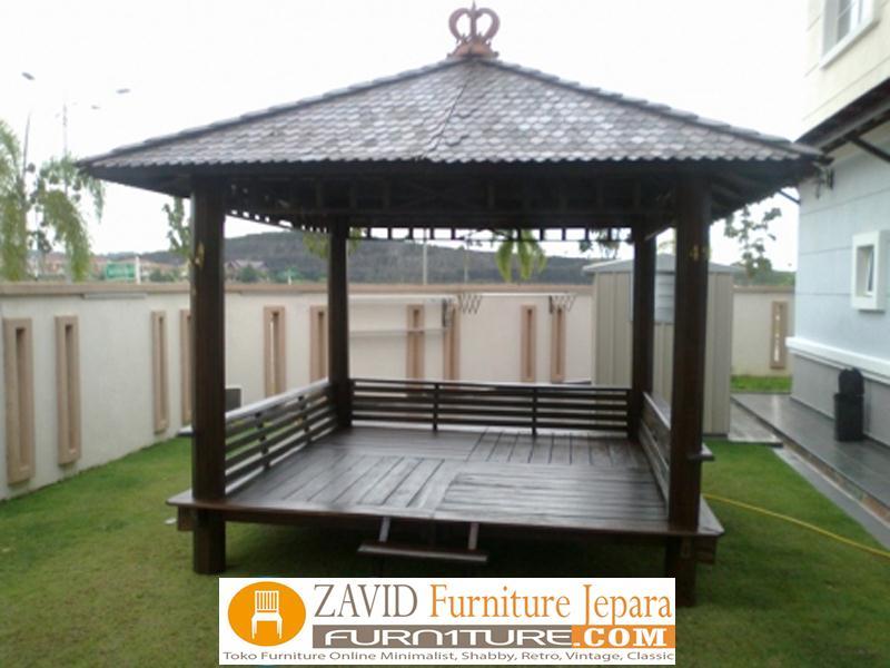 jual-gazebo-minimalis-kayu-jati 79+ Gazebo Minimalis Sederhana Kayu Jati Harga Murah Desain Terbaru