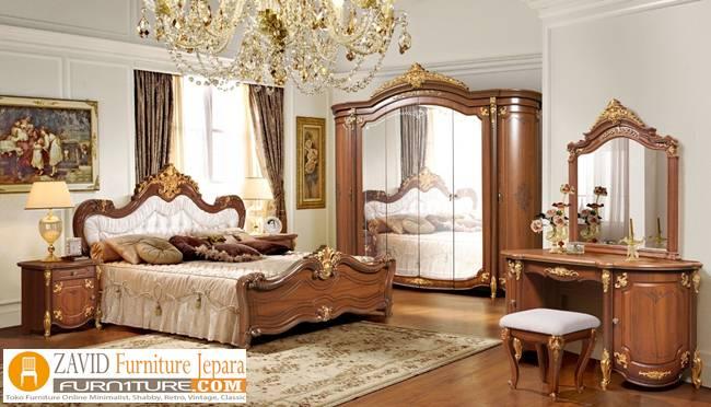 Kamar-set-kayu-jati-mewah-klasik-jepara 32+ Kamar Set Klasik Modern Mewah Ukiran Kayu Jati