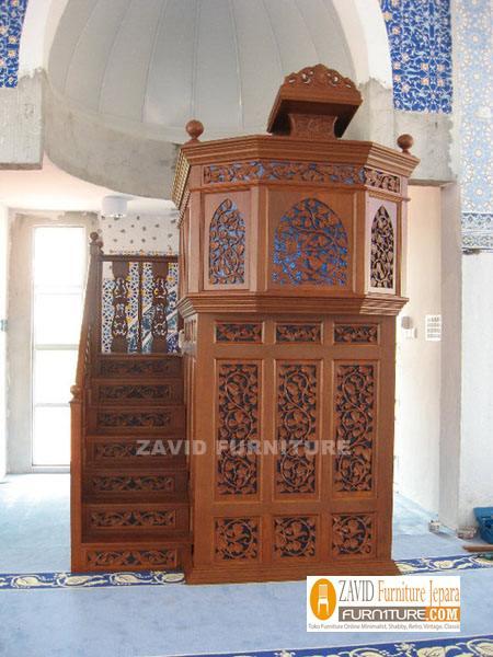 Mimbar-Masjid-Kayu-Jati-Murah-Semarang Mimbar Masjid Semarang Kayu Jati UKIRAN Murah