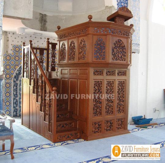 Mimbar-Masjid-Murah-Area-SEMARANG Mimbar Masjid Semarang Kayu Jati UKIRAN Murah