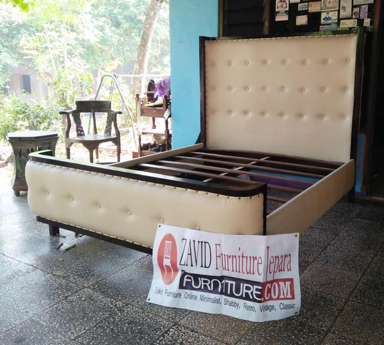 Tempat-Tidur-Kayu-Jati-Busa-Minimalis Tempat Tidur Kayu Jati Busa Minimalis
