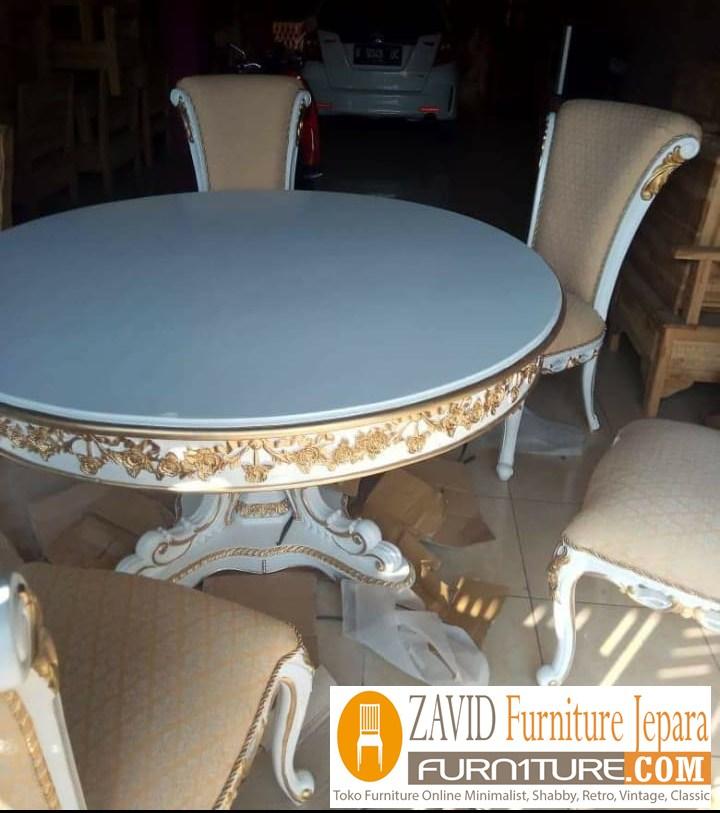 meja-makan-bundar-real-pict-2 Jual Meja Makan Bulat/Bundar Kayu Jati 4 dan 6 kursi Terbaru