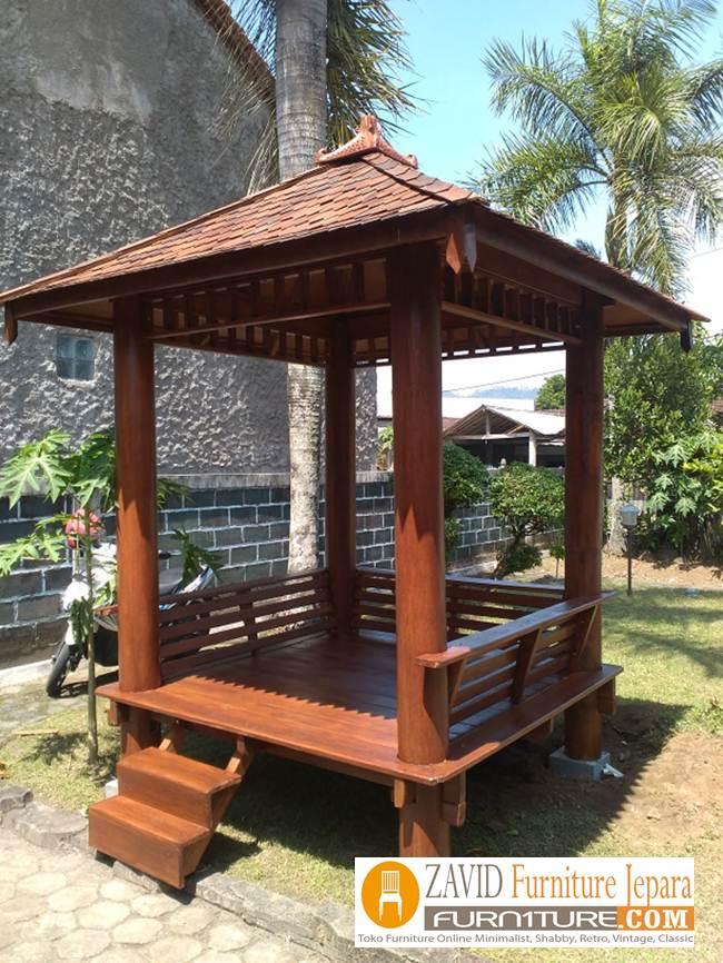 Gazebo-Taman-Minimali-Kayu-Kelapa 32+ Jual Gazebo Taman Minimalis Kayu Kelapa /Glugu