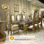 Meja Makan Mewah Malang Ukiran Gold Victorian
