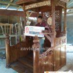 Mimbar Masjid Bekasi Podium Kayu jati Mewah | Pesanan Bapak Heri