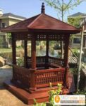 Jual gazebo Kayu Model China Terbaru