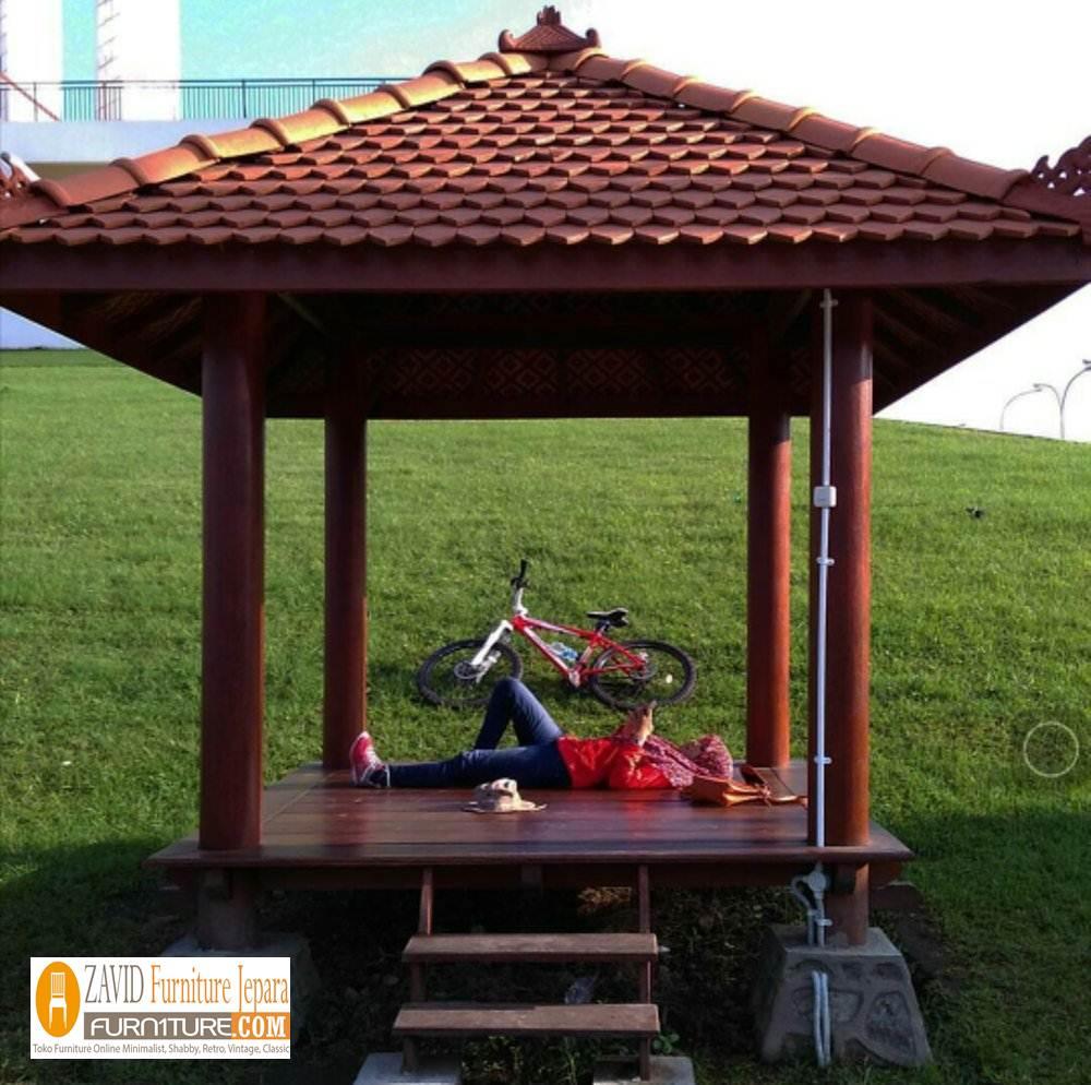 gazebo-taman-glugu-murah-simple-untuk-taman 32+ Jual Gazebo Taman Minimalis Kayu Kelapa /Glugu