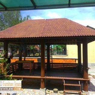 32+ Jual Gazebo Taman Minimalis Kayu Kelapa /Glugu