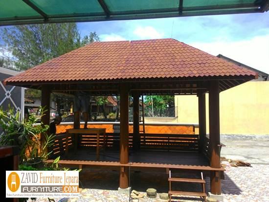 harga-gazebo-taman-kayu-kelapa 32+ Jual Gazebo Taman Minimalis Kayu Kelapa /Glugu