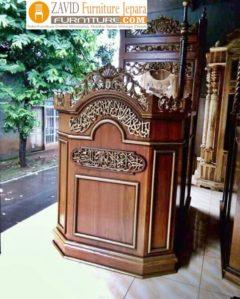 Mimbar Masjid Cirebon Ukiran Brown