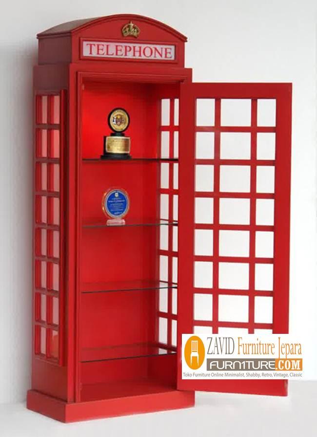 Jual-Lemari-Telephone-Merah-Vintage Jual Lemari Telephone London Inggris Vintage, Box Harga Murah