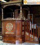 Jual Mimbar Masjid Bogor Podium Mewah Kayu Jati