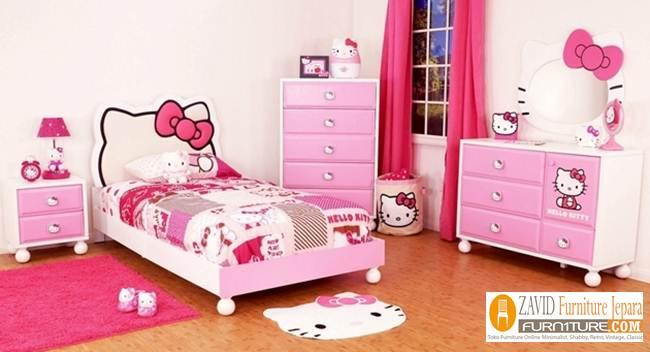 Kamar Set Anak Hello Kitty Perempuan Pink Unik - Kamar Set Anak Hello Kitty Perempuan Pink Unik