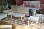 Kursi Tamu Sudut Sofa Mewah Ukiran Cat Duco