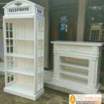 Jual Lemari Telephone London Inggris Vintage, Box Harga Murah