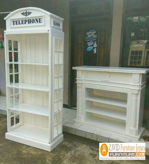 Lemari-Hiasan-Telephon-Terbaru-Modern Jual Lemari Telephone London Inggris Vintage, Box Harga Murah