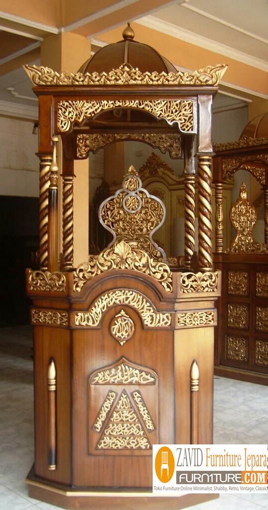 Mimbar-Masjid-kubah Harga Mimbar Masjid Kubah Model Minimalis Kubah Ukiran