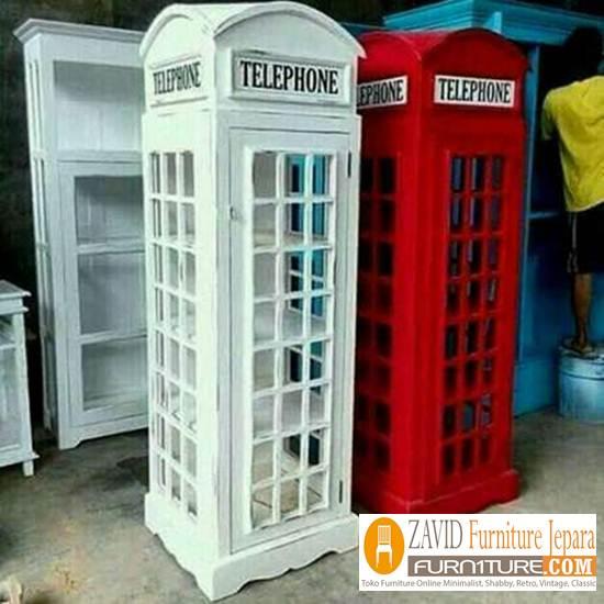 Rak-Telephone-Inggris Jual Lemari Telephone London Inggris Vintage, Box Harga Murah