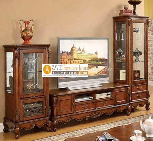 Rumah Kayu Mewah: Jual Meja Rak TV Kayu Jati Minimalis Modern Mewah Terbaru 2020
