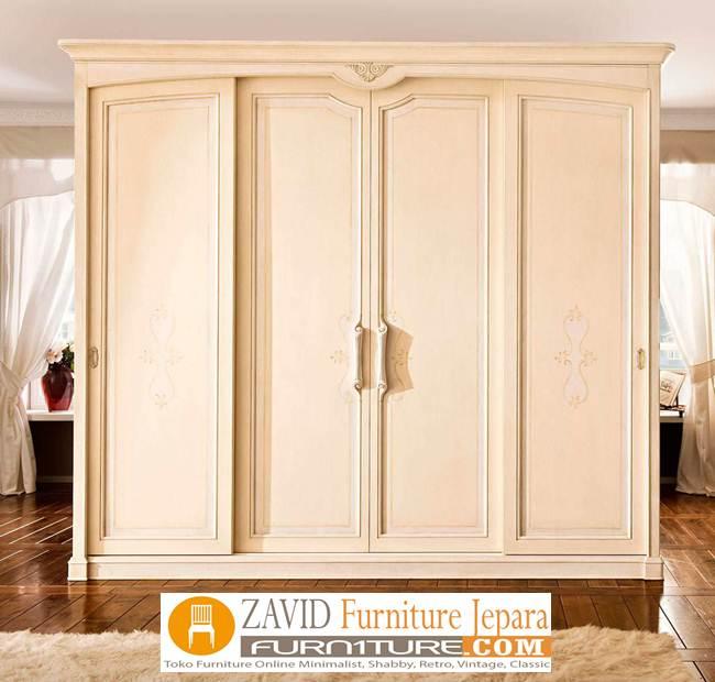 jual-lemari-pakaian-mewah-4-pintu Lemari Pakaian Mewah Ukiran Modern Minimalis