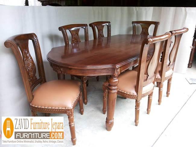 jual-set-kursi-makan-salina Set Kursi Makan Salina Kayu Jati Terbaru