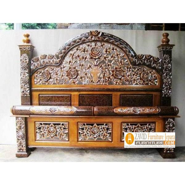 jual-tempat-tidur-kayu-jati-rahwana Dipan Jati Rahwana Ukiran Mewah Terlaris Harga Murah