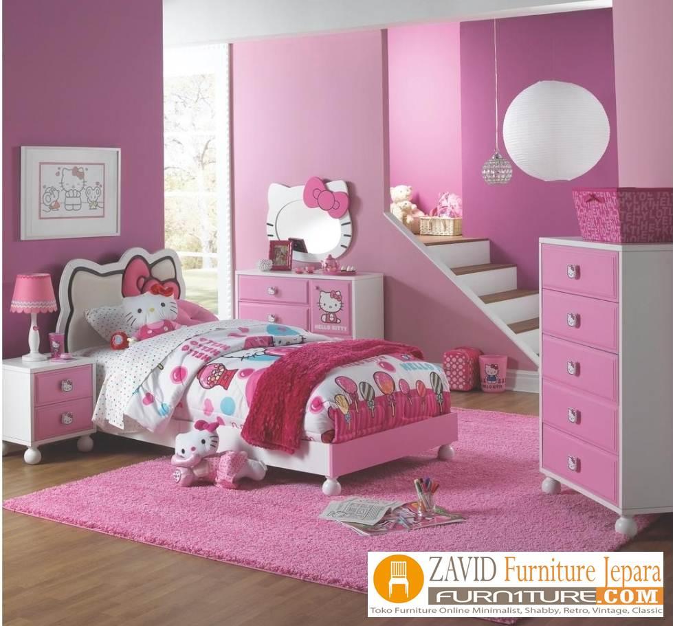 kamar set anak hello kitty - Kamar Set Anak Hello Kitty Perempuan Pink Unik