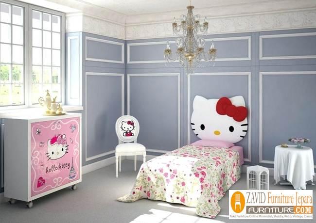 kamar set anak pink hello kitty - Kamar Set Anak Hello Kitty Perempuan Pink Unik
