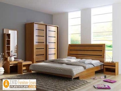 kamar set hpl coklat - Kamar Set HPL Jakarta Coklat Modern