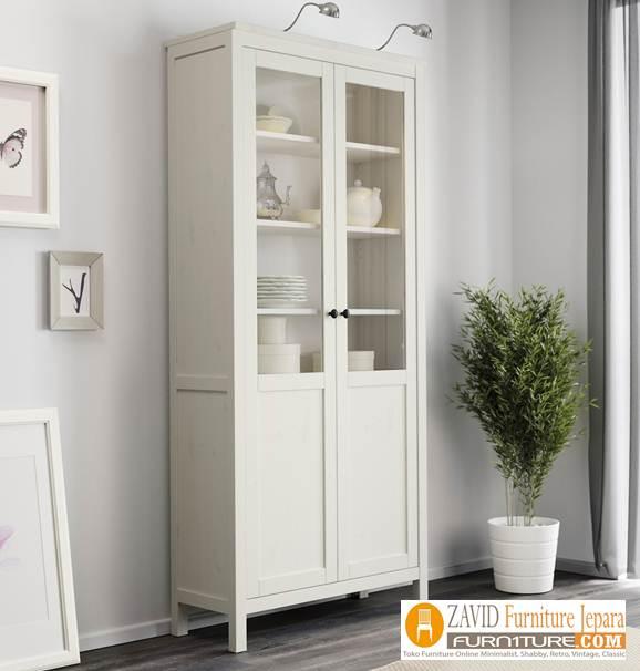lemari-hias-kaca-putih Jual Lemari Hias Kaca Minimalis Modern Terbaru
