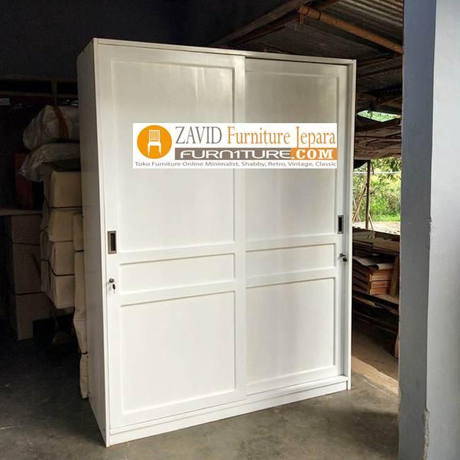 lemari-pakaian-minimalis-sliding-2-pintu Jual Lemari Pakaian Sliding 2 Pintu Kaca   Lemari Geser Kayu Jati dan Mahoni