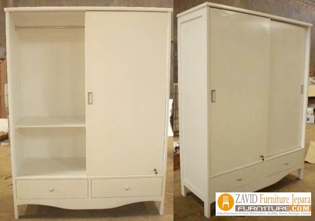 lemari-pakaian-sliding-2-pintu Jual Lemari Pakaian Sliding 2 Pintu Kaca   Lemari Geser Kayu Jati dan Mahoni