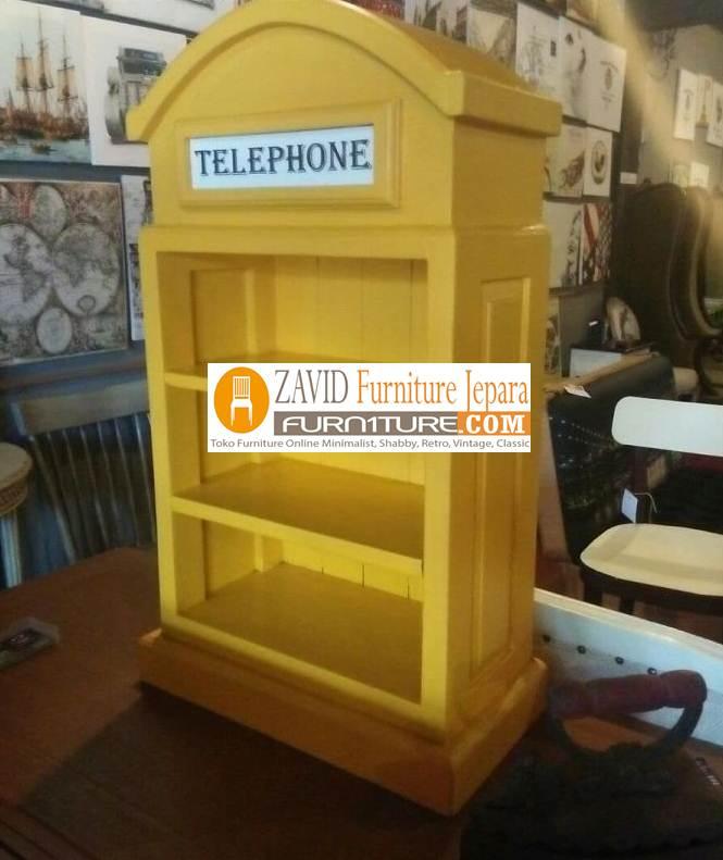 lemari-telephone-kuning Jual Lemari Telephone London Inggris Vintage, Box Harga Murah