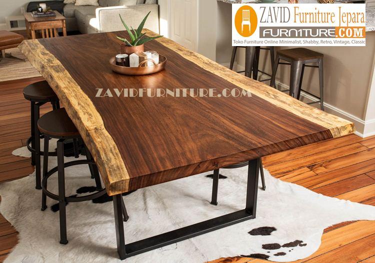 meja-makan-kayu-trembesi Meja Trembesi Malang Untuk Meja Makan Kayu Solid Jual Murah
