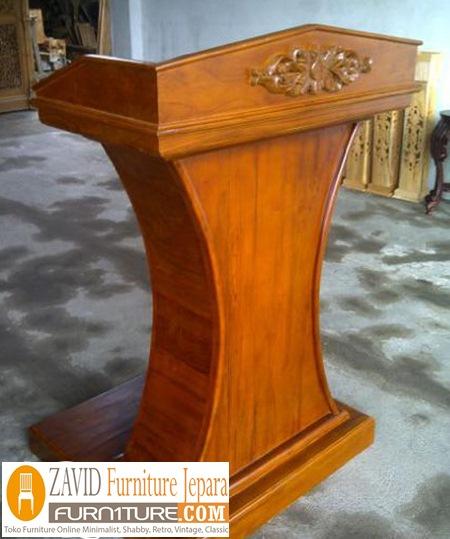 mimbar jati podium - Jual Mimbar Jati Jepara Ukir-Ukiran Mewah Relief