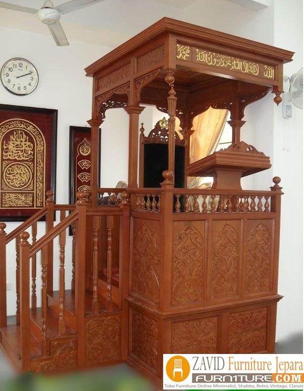 mimbar-masjid-jakarta Jual Mimbar Masjid Jakarta Terbaru