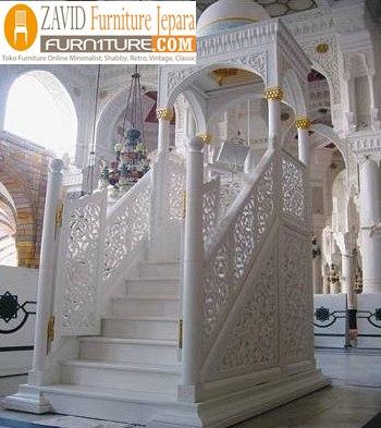 mimbar-masjid-kubah-mewah3 Harga Mimbar Masjid Kubah Model Minimalis Kubah Ukiran