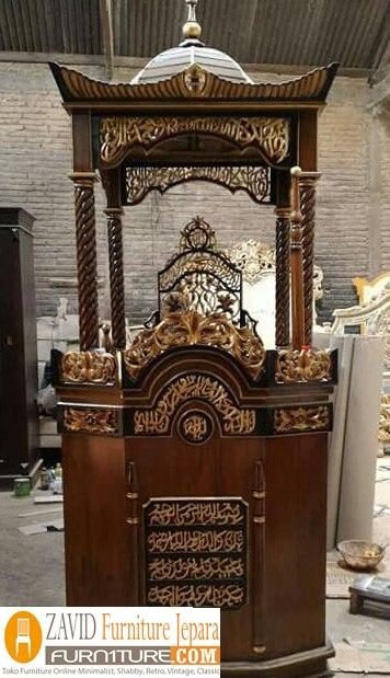 mimbar-masjid-kubah.4 Harga Mimbar Masjid Kubah Model Minimalis Kubah Ukiran