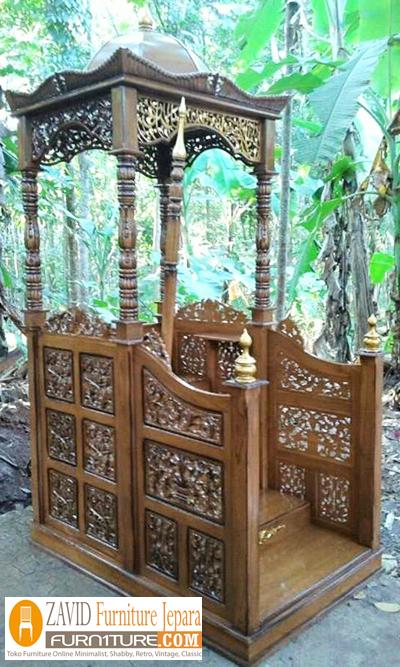 mimbar-masjid-kubah.5 Harga Mimbar Masjid Kubah Model Minimalis Kubah Ukiran