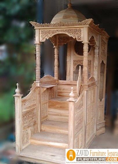 mimbar-masjid-kubah2 Harga Mimbar Masjid Kubah Model Minimalis Kubah Ukiran